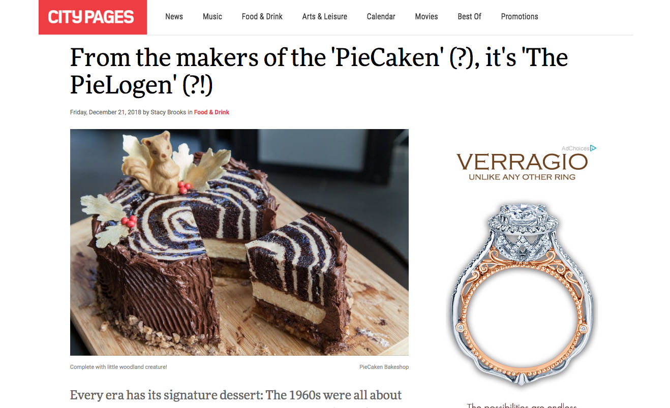 From the makers of the 'PieCaken' (?), it's 'The PieLogen' (?!)
