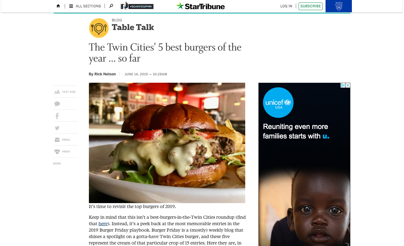 The Twin Cities' 5 best burgers of the year ... so far
