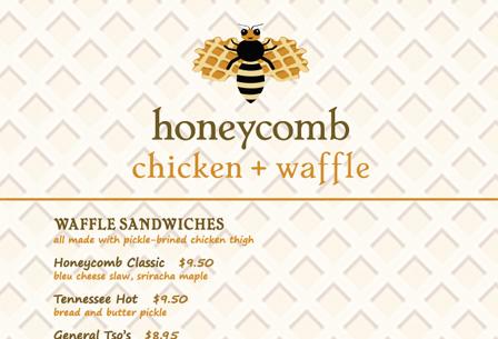 Honeycomb Chicken + Waffle Menu