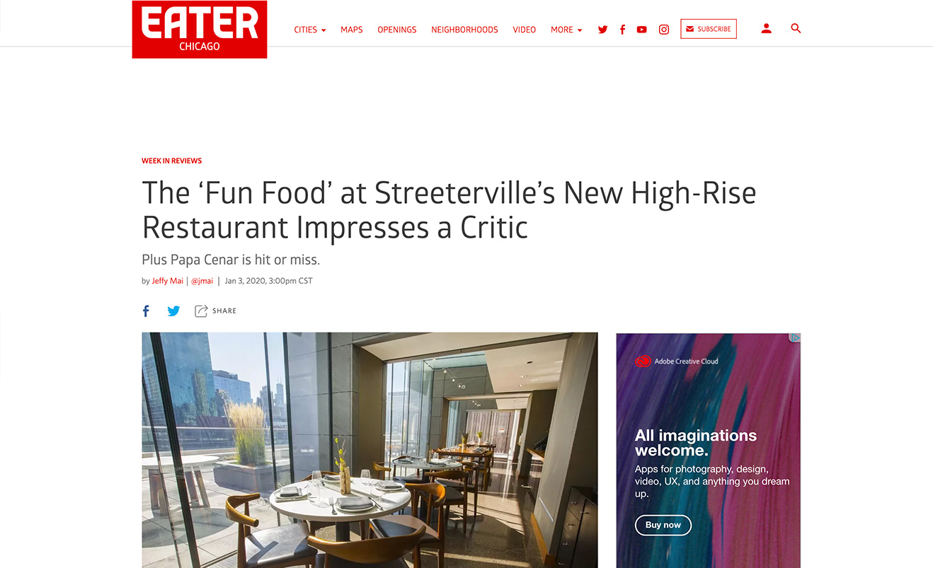 The 'Fun Food' at Streeterville's New High-Rise Restaurant Impresses a Critic