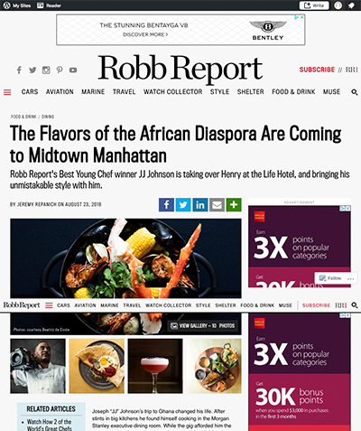Robb Report: The Flavors of the African Diaspora Are Coming to Midtown Manhattan