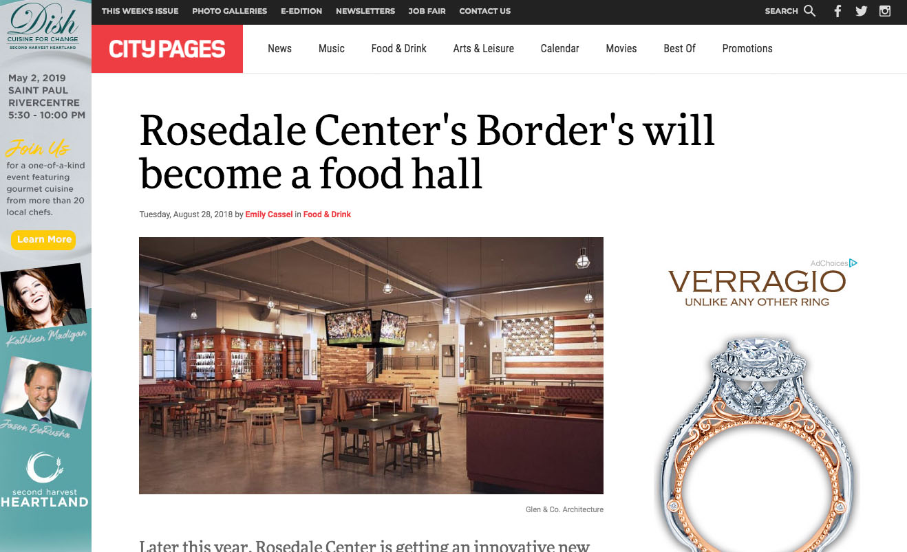 Rosedale Center's Border's will become a food hall
