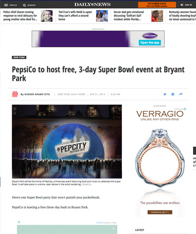 Pepsi Super Bowl Event