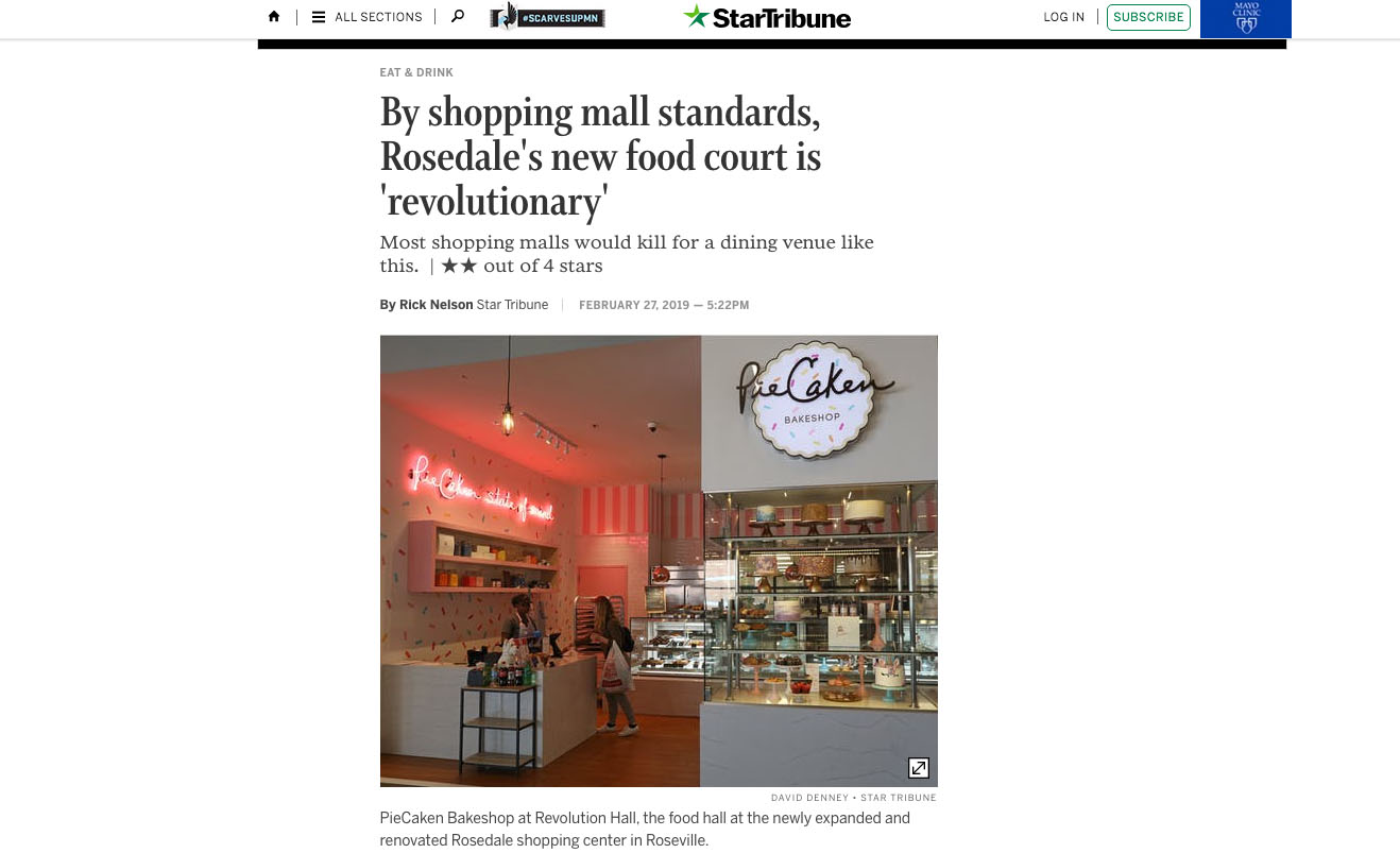 By shopping mall standards, Rosedale's new food court is 'revolutionary'