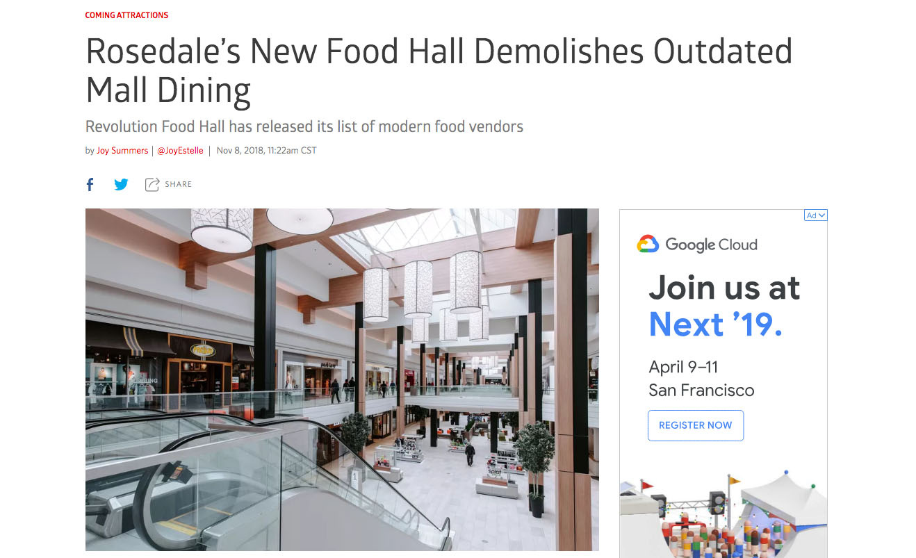 Rosedale's New Food Hall Demolishes Outdated Mall Dining