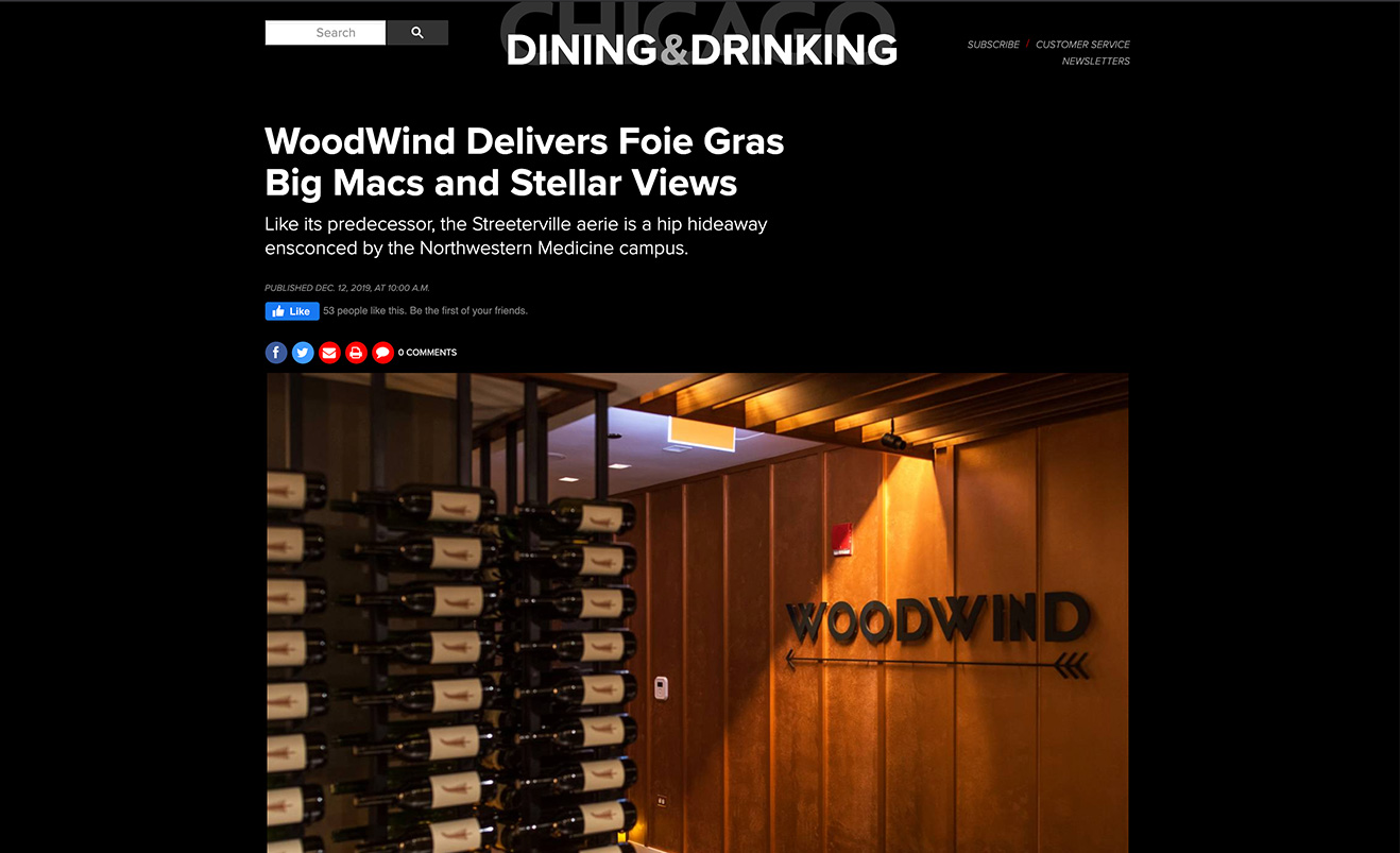 WoodWind Delivers Foie Gras Big Macs and Stellar Views