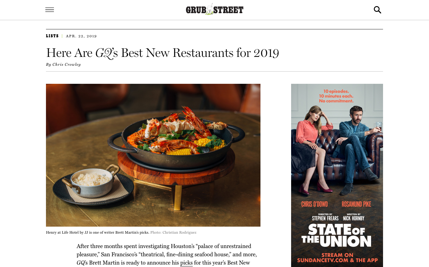 Here Are GQ's Best New Restaurants for 2019