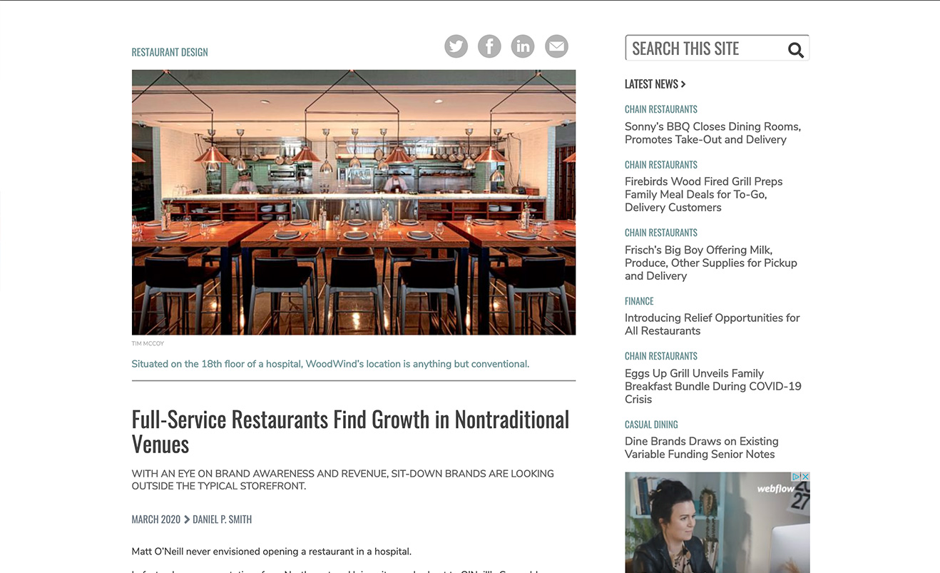 Full-Service Restaurants Find Growth in Nontraditional Venues