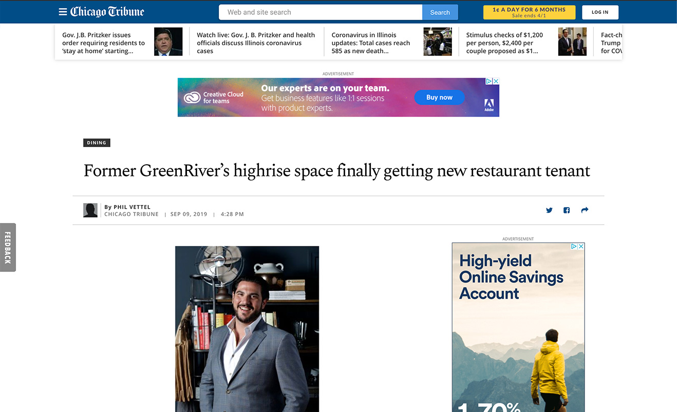 Former GreenRiver's highrise space finally getting new restaurant tenant