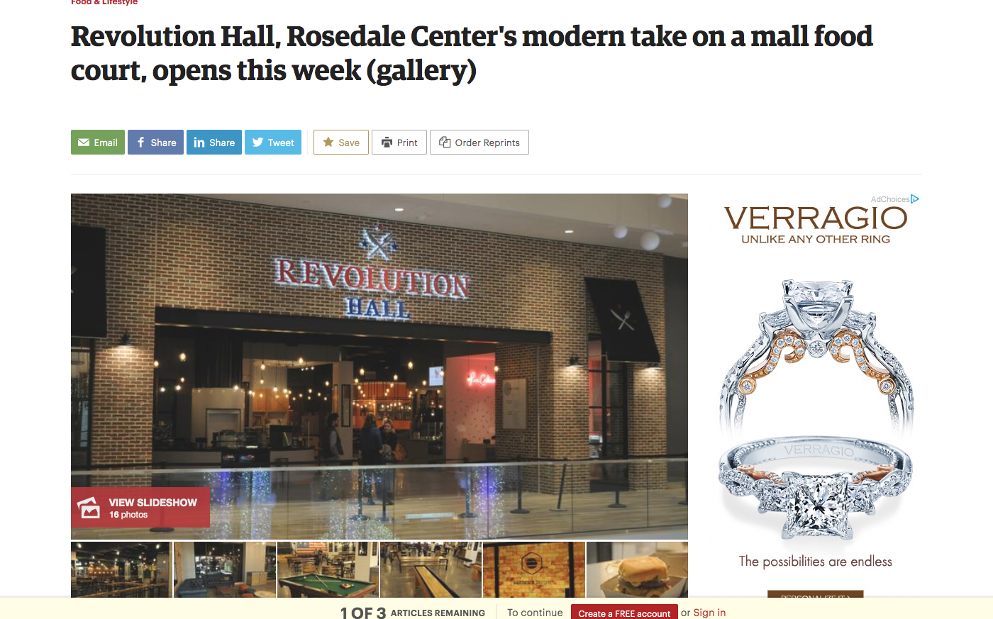 Revolution Hall, Rosedale Center's modern take on a mall food court, opens this week (gallery)