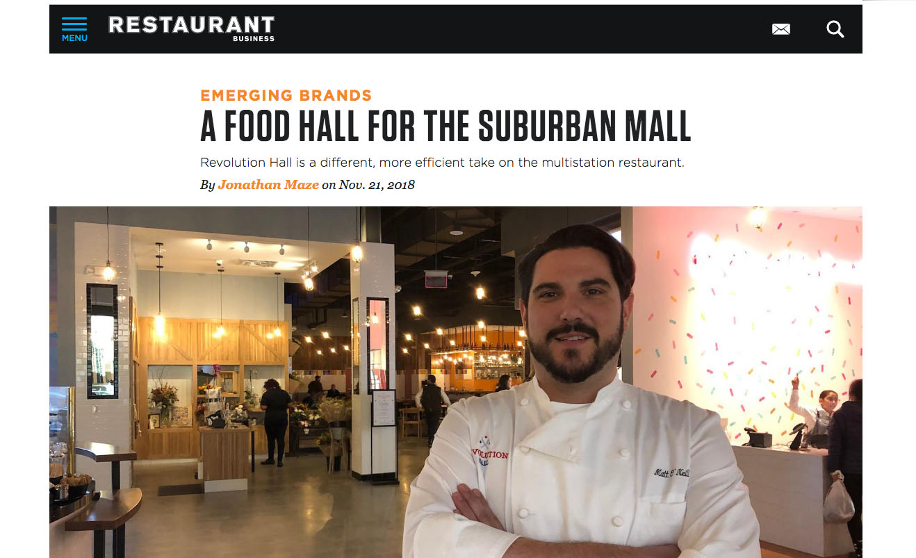 A FOOD HALL FOR THE SUBURBAN MALL