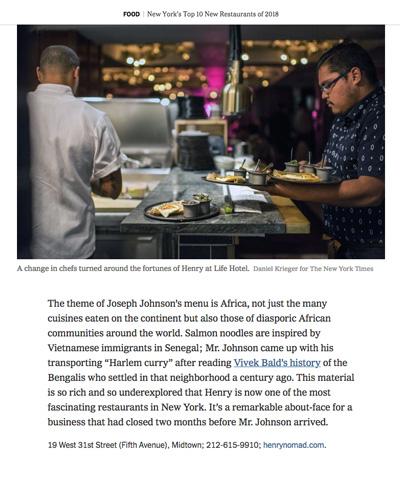New York's Top 10 New Restaurants of 2018